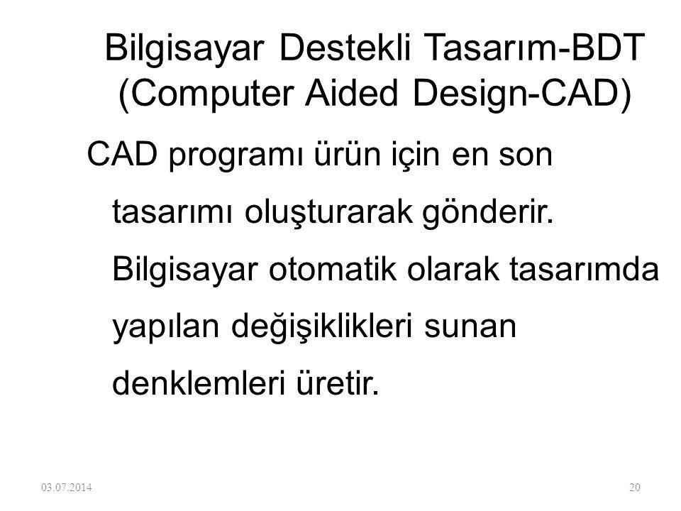 Bilgisayar Destekli Tasarım-BDT (Computer Aided Design-CAD)