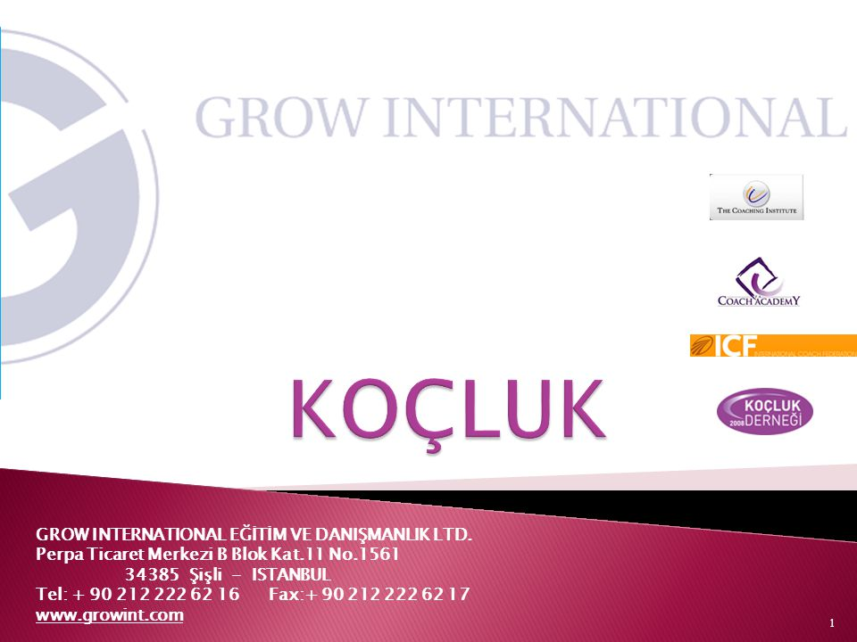 KOÇLUK GROW INTERNATIONAL EĞİTİM VE DANIŞMANLIK LTD.