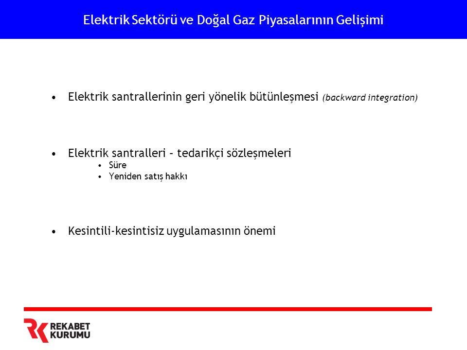 Elektrik Sektörü ve Doğal Gaz Piyasalarının Gelişimi