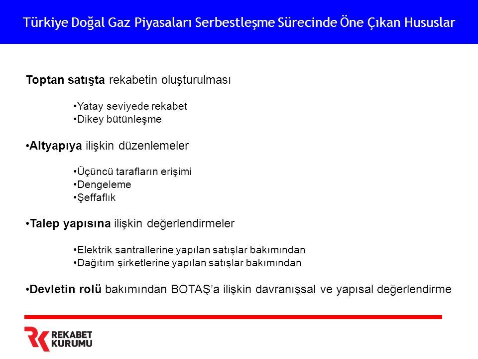 Türkiye Doğal Gaz Piyasaları Serbestleşme Sürecinde Öne Çıkan Hususlar