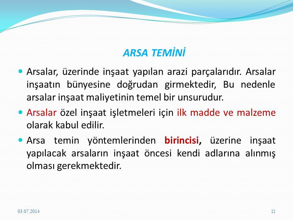 ARSA TEMİNİ
