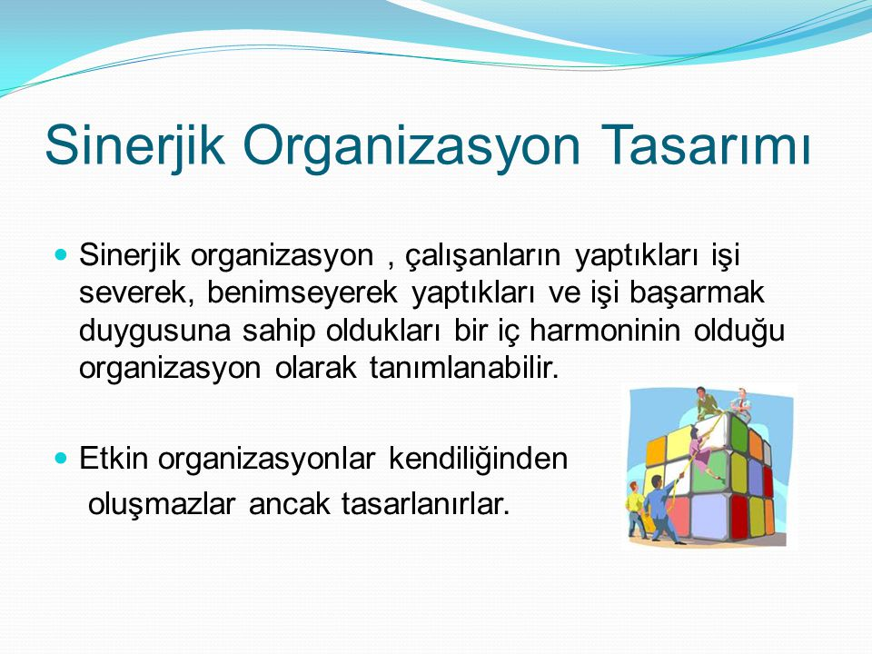 Sinerjik Organizasyon Tasarımı