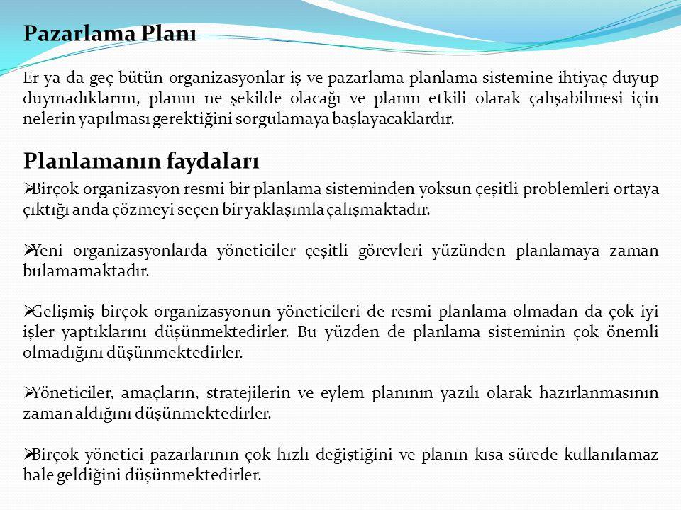 Planlamanın faydaları