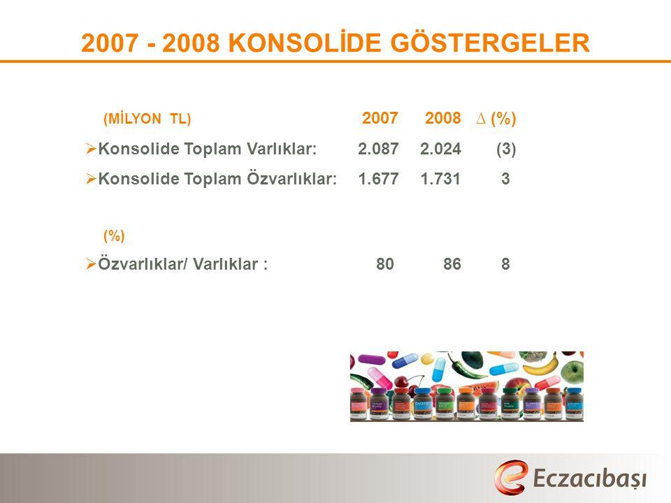 2007 - 2008 KONSOLİDE GÖSTERGELER