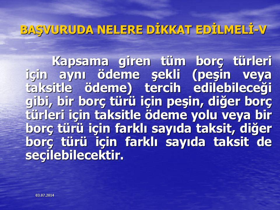 BAŞVURUDA NELERE DİKKAT EDİLMELİ-V