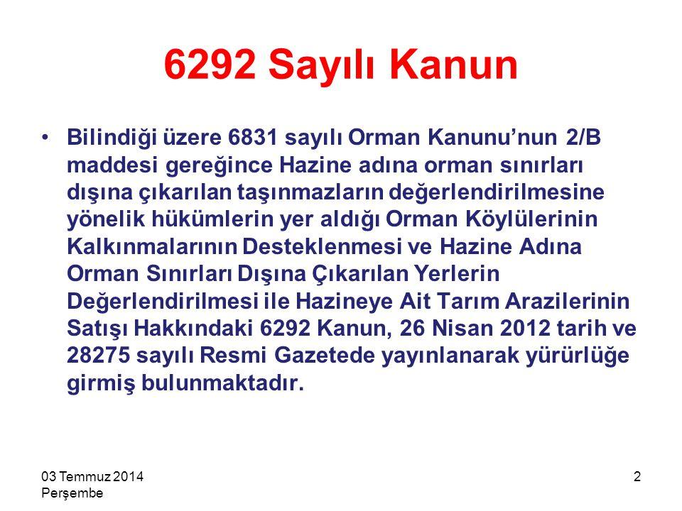 6292 Sayılı Kanun