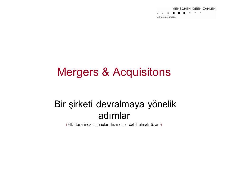 Mergers & Acquisitons Bir şirketi devralmaya yönelik adımlar