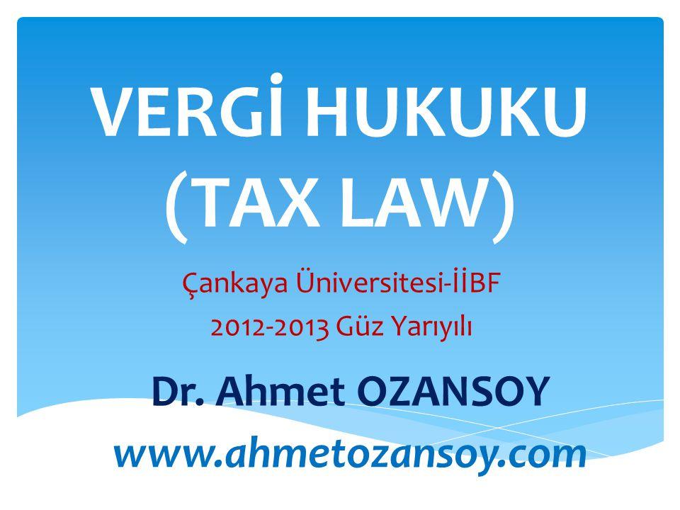 Çankaya Üniversitesi-İİBF 2012-2013 Güz Yarıyılı