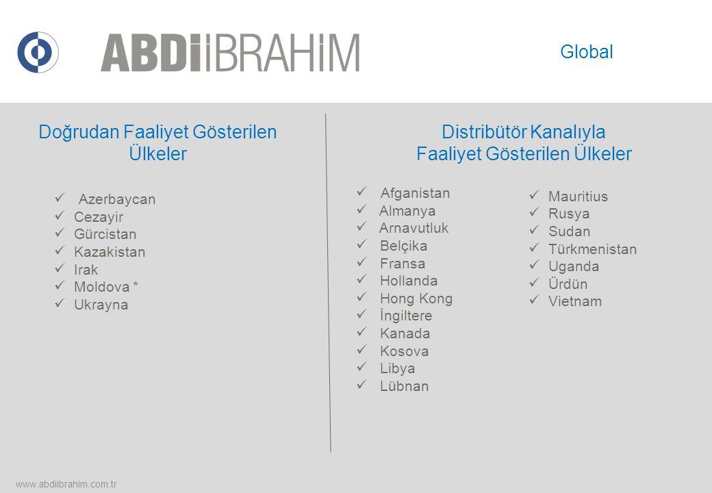 Doğrudan Faaliyet Gösterilen Ülkeler Distribütör Kanalıyla