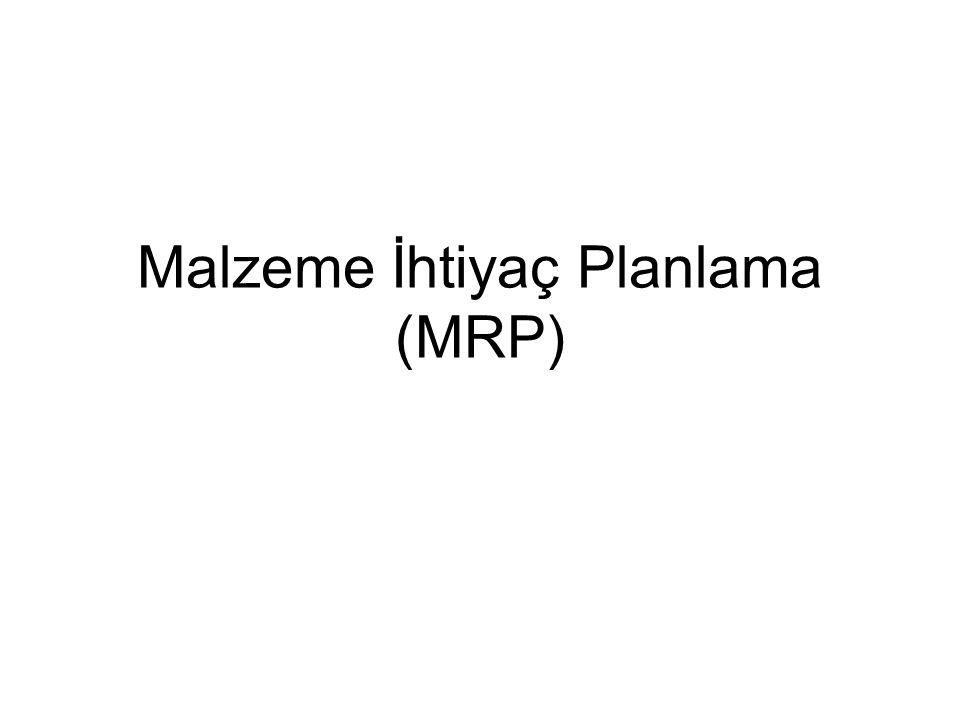 Malzeme İhtiyaç Planlama (MRP)