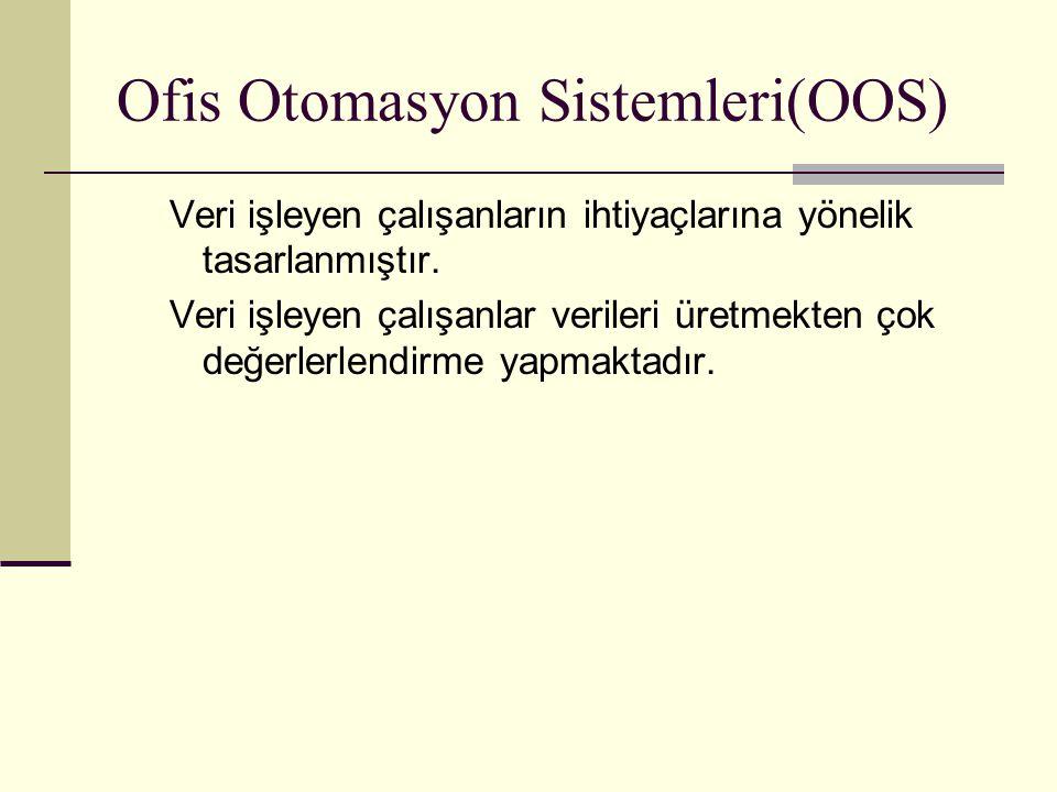 Ofis Otomasyon Sistemleri(OOS)