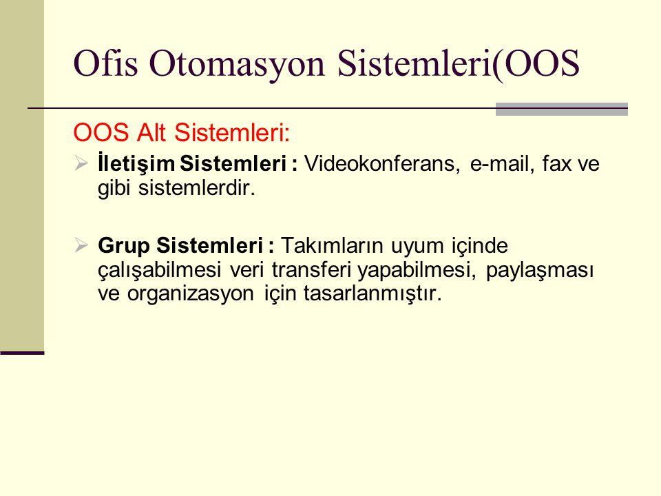 Ofis Otomasyon Sistemleri(OOS