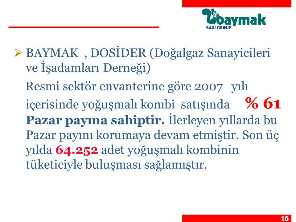 BAYMAK , DOSİDER (Doğalgaz Sanayicileri ve İşadamları Derneği)