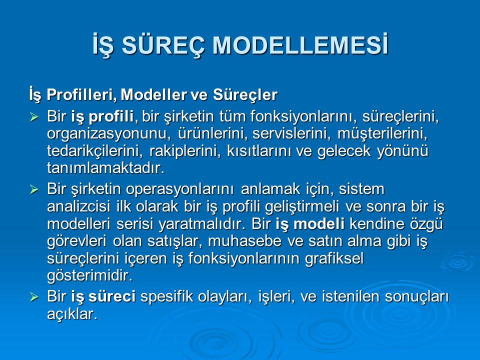 İŞ SÜREÇ MODELLEMESİ İş Profilleri, Modeller ve Süreçler