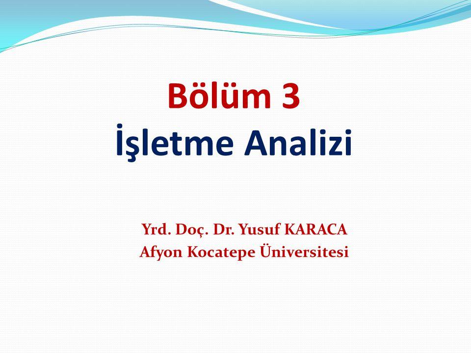 Yrd. Doç. Dr. Yusuf KARACA Afyon Kocatepe Üniversitesi