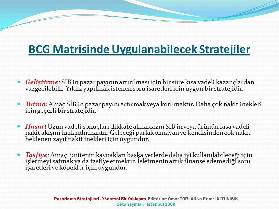 BCG Matrisinde Uygulanabilecek Stratejiler