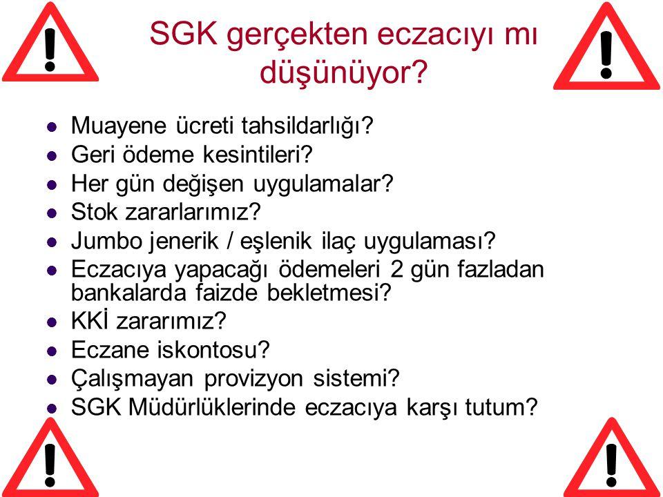 SGK gerçekten eczacıyı mı düşünüyor