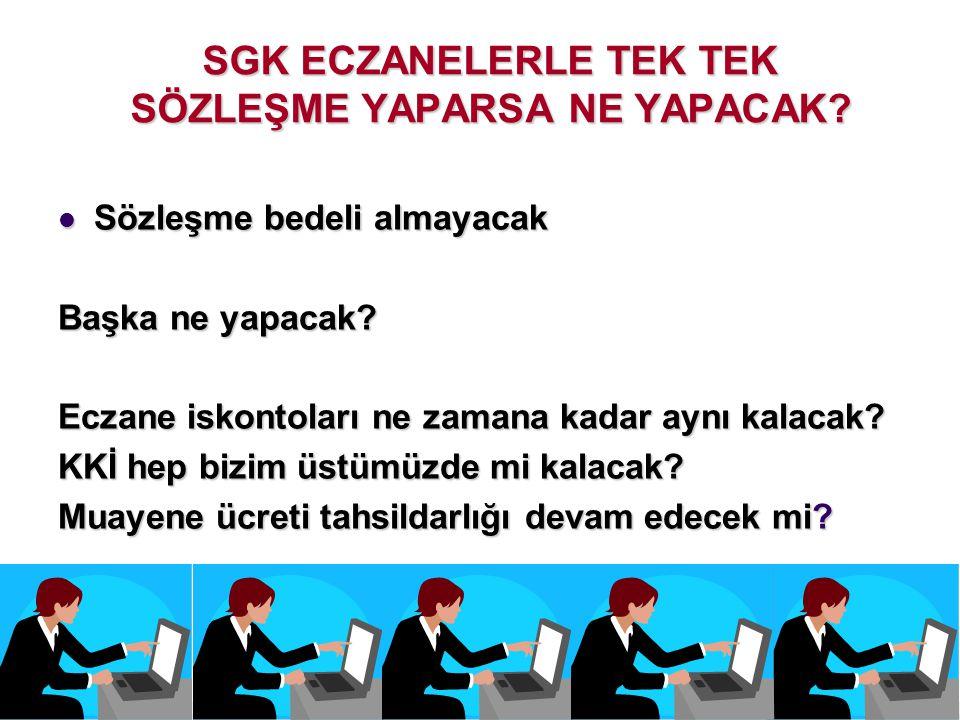 SGK ECZANELERLE TEK TEK SÖZLEŞME YAPARSA NE YAPACAK