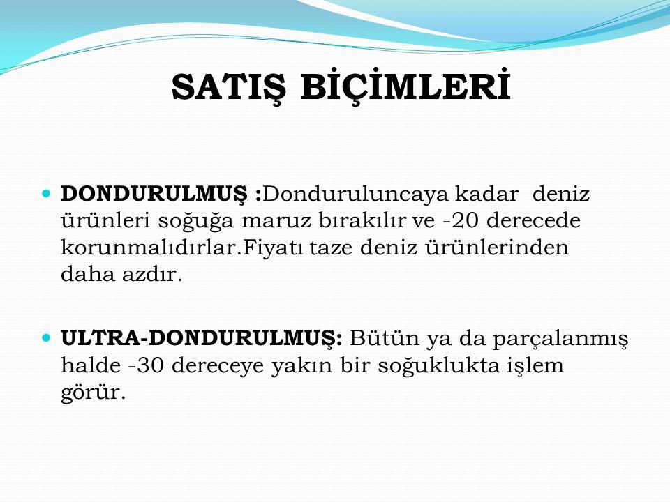 SATIŞ BİÇİMLERİ