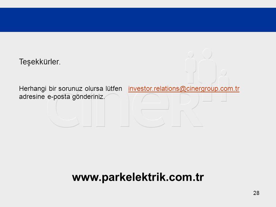 www.parkelektrik.com.tr Teşekkürler.