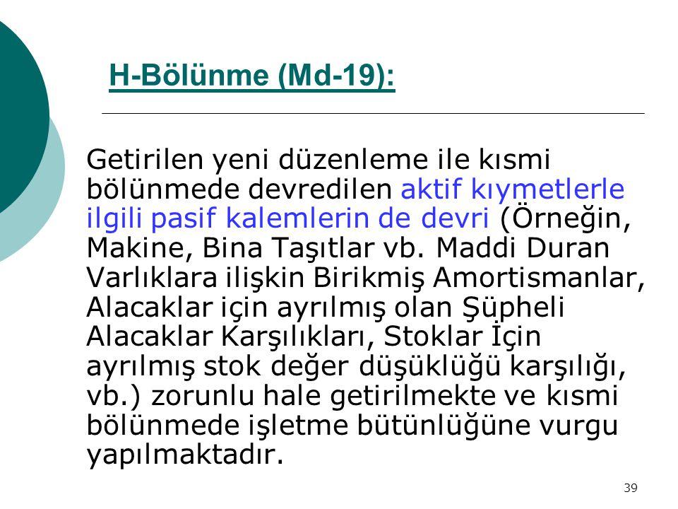 H-Bölünme (Md-19):