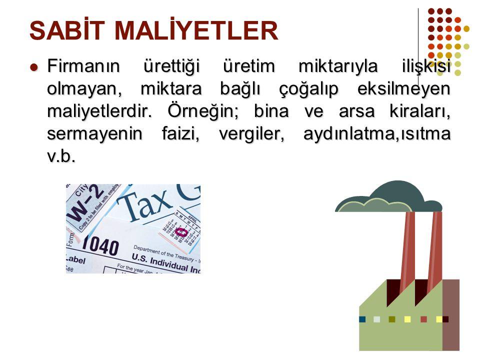 SABİT MALİYETLER