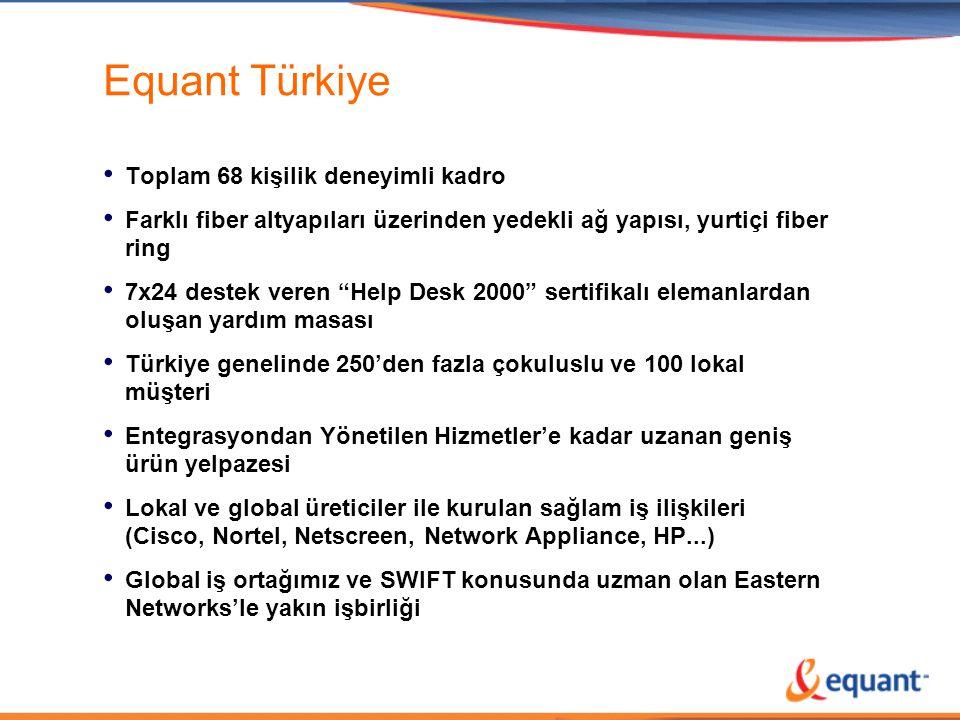 Equant Türkiye Toplam 68 kişilik deneyimli kadro