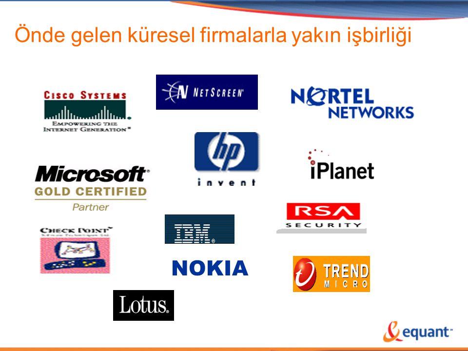 Önde gelen küresel firmalarla yakın işbirliği