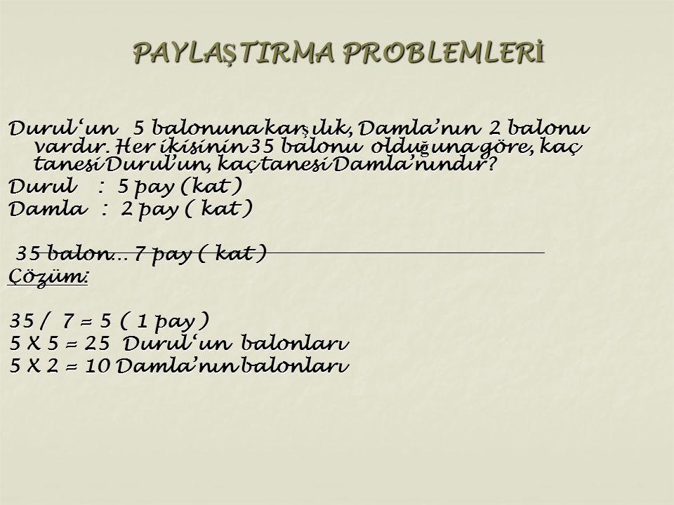 PAYLAŞTIRMA PROBLEMLERİ