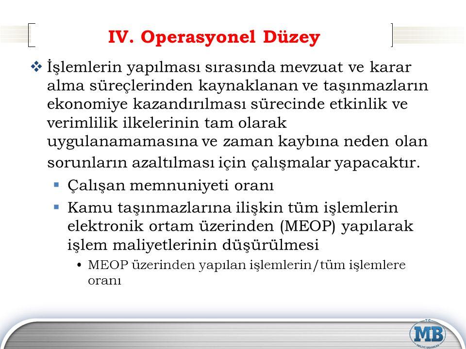 IV. Operasyonel Düzey