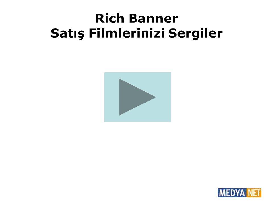 Rich Banner Satış Filmlerinizi Sergiler