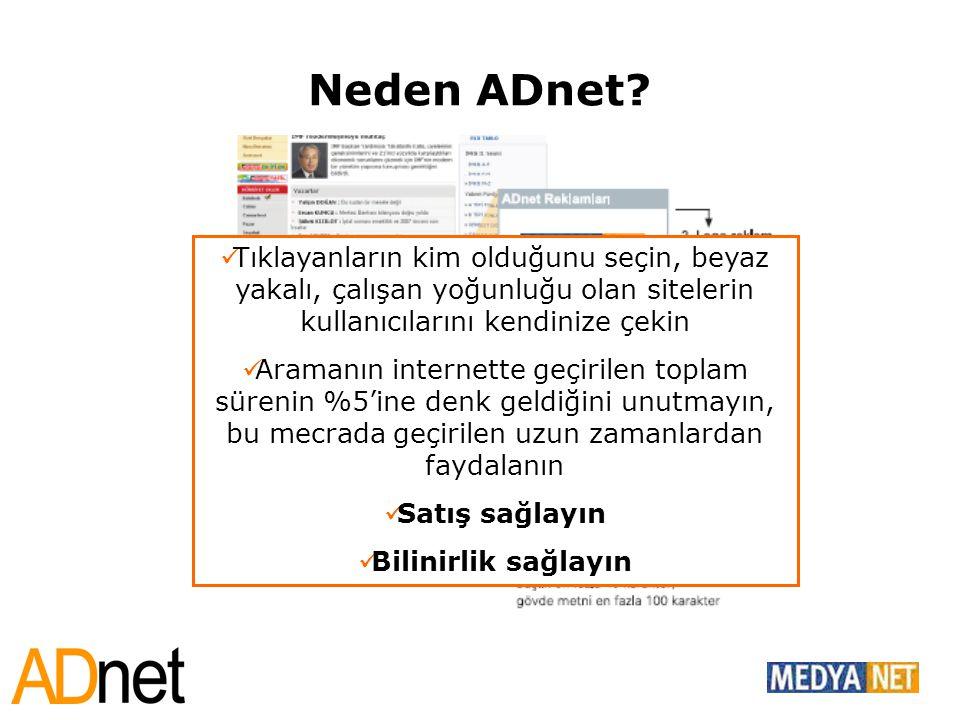 Neden ADnet Tıklayanların kim olduğunu seçin, beyaz yakalı, çalışan yoğunluğu olan sitelerin kullanıcılarını kendinize çekin.