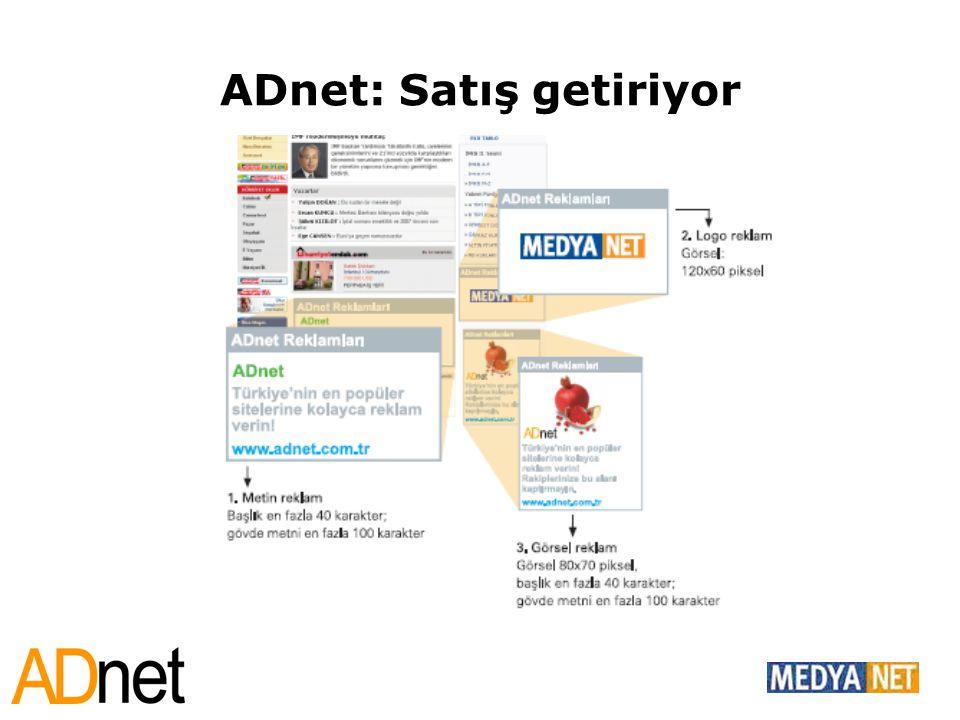 ADnet: Satış getiriyor