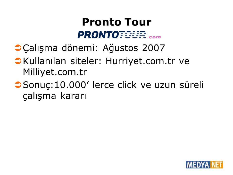 Pronto Tour Çalışma dönemi: Ağustos 2007