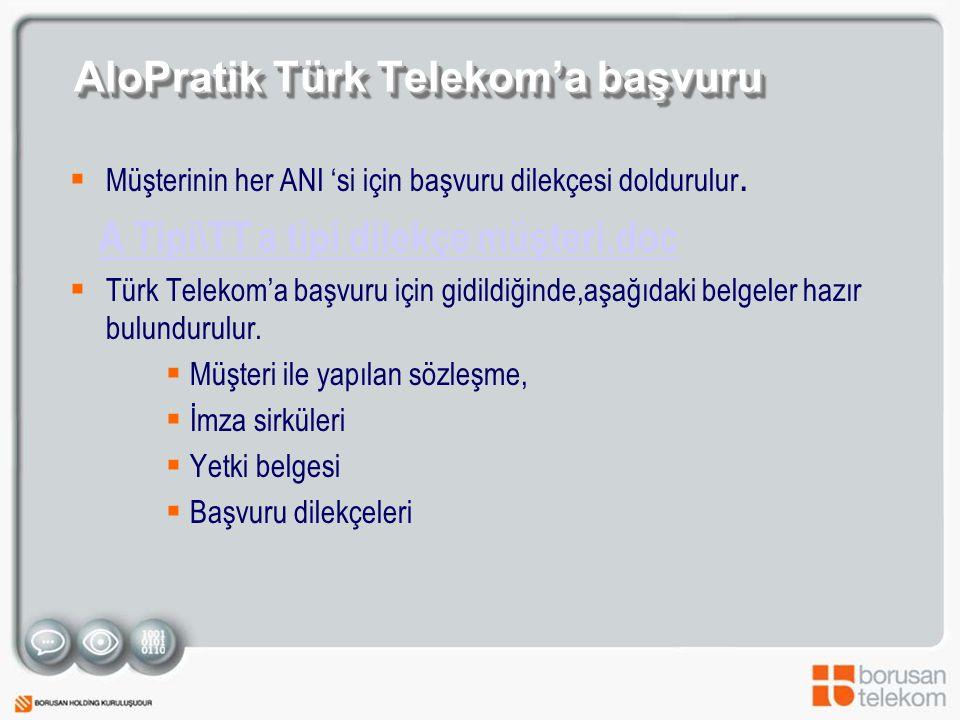 AloPratik Türk Telekom'a başvuru