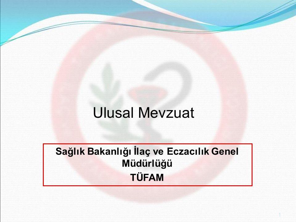 Sağlık Bakanlığı İlaç ve Eczacılık Genel Müdürlüğü TÜFAM