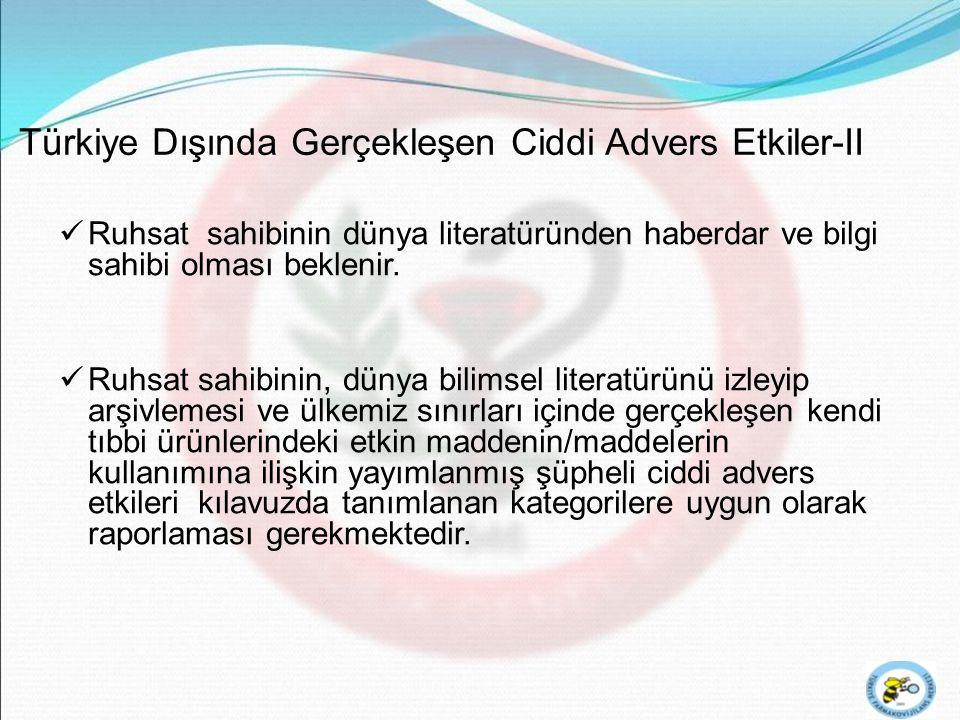 Türkiye Dışında Gerçekleşen Ciddi Advers Etkiler-II