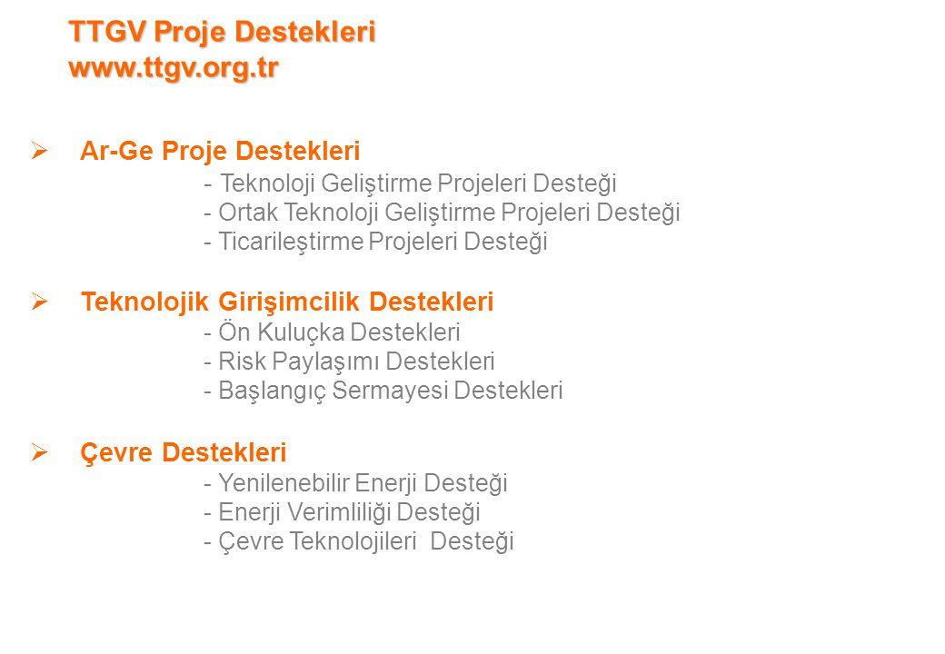 TTGV Proje Destekleri www.ttgv.org.tr