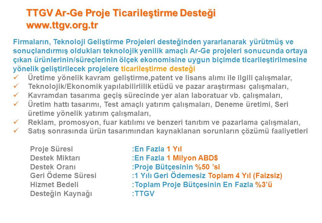 TTGV Ar-Ge Proje Ticarileştirme Desteği www.ttgv.org.tr