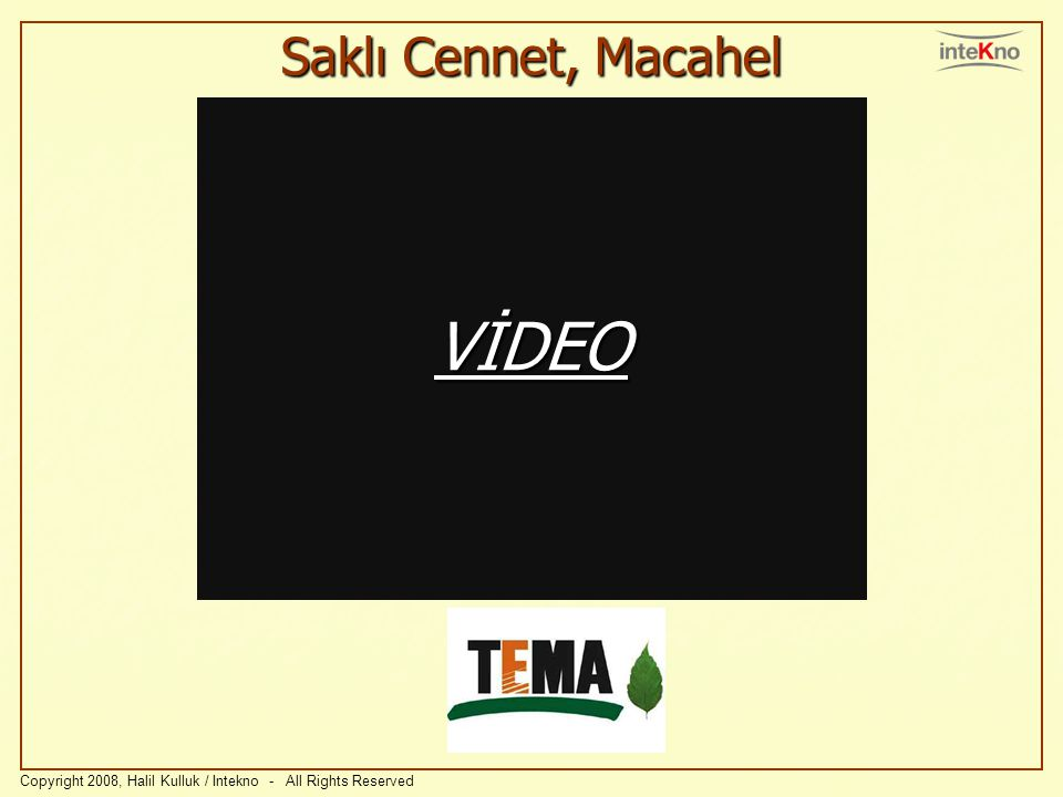 VİDEO Saklı Cennet, Macahel