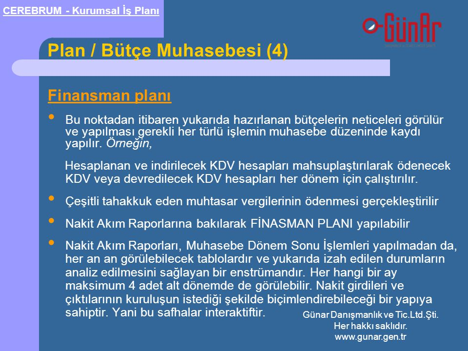 Plan / Bütçe Muhasebesi (4)