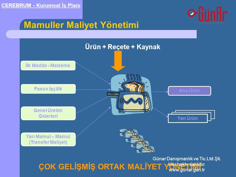 Genel Üretim Giderleri Yarı Mamul – Mamul (Transfer Maliyet)
