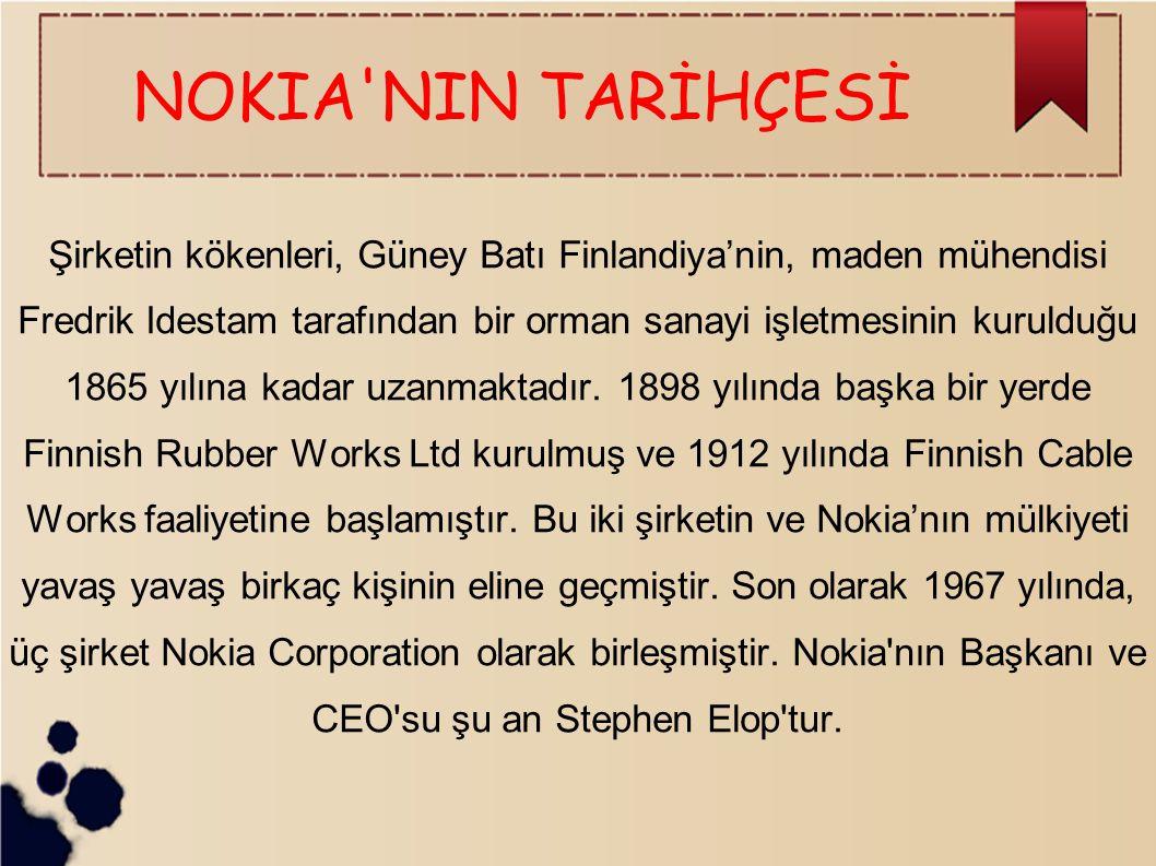 NOKIA NIN TARİHÇESİ
