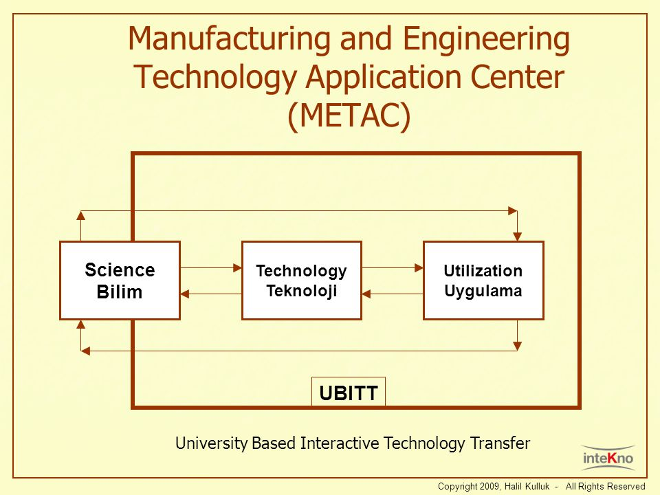 Manufacturing and Engineering Technology Application Center (METAC)