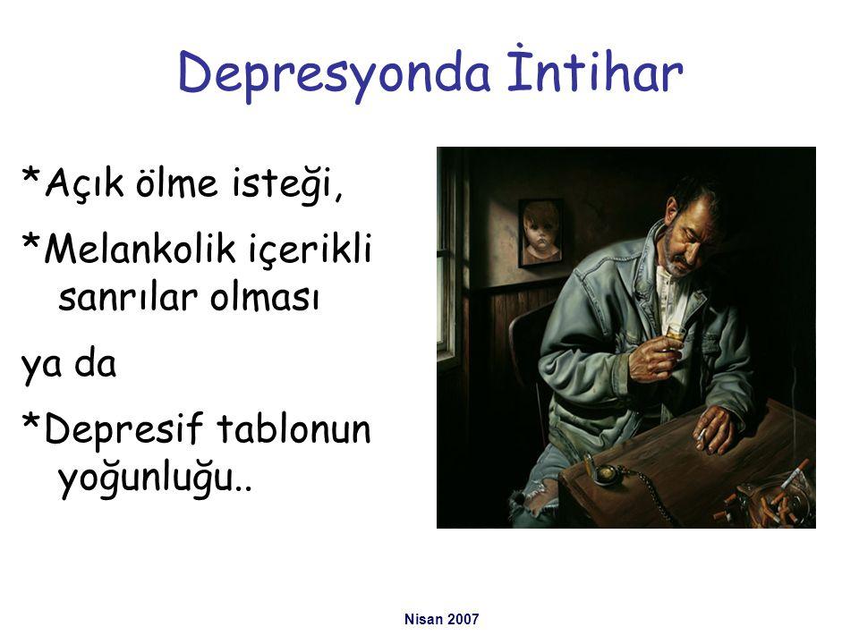 Depresyonda İntihar *Açık ölme isteği,