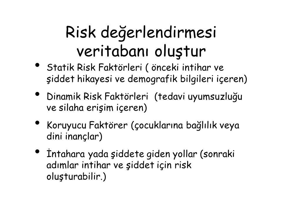 Risk değerlendirmesi veritabanı oluştur