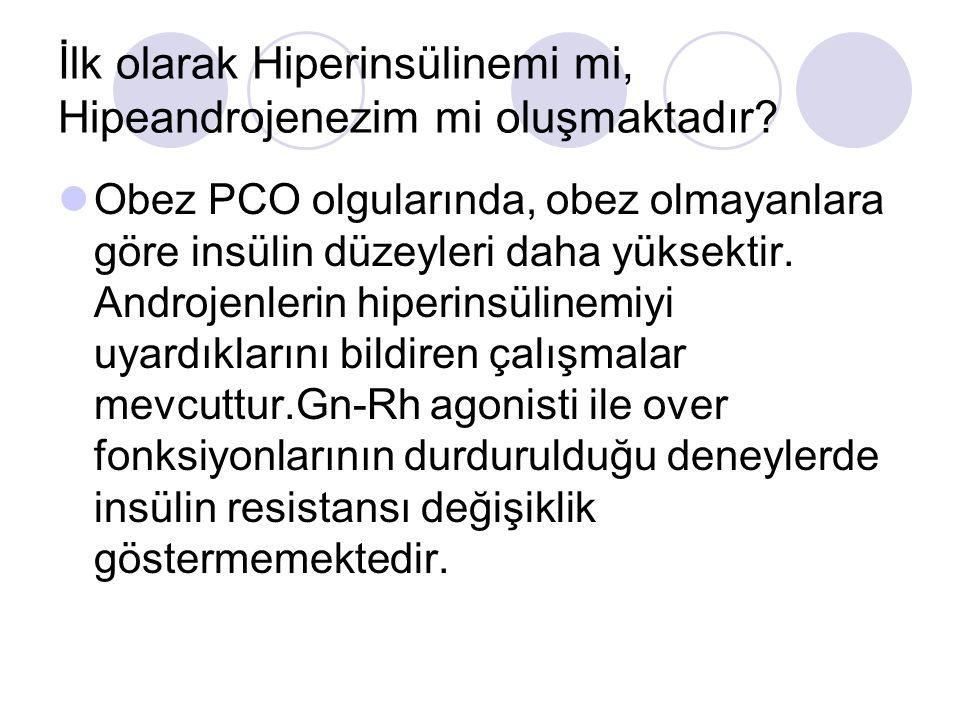 İlk olarak Hiperinsülinemi mi, Hipeandrojenezim mi oluşmaktadır