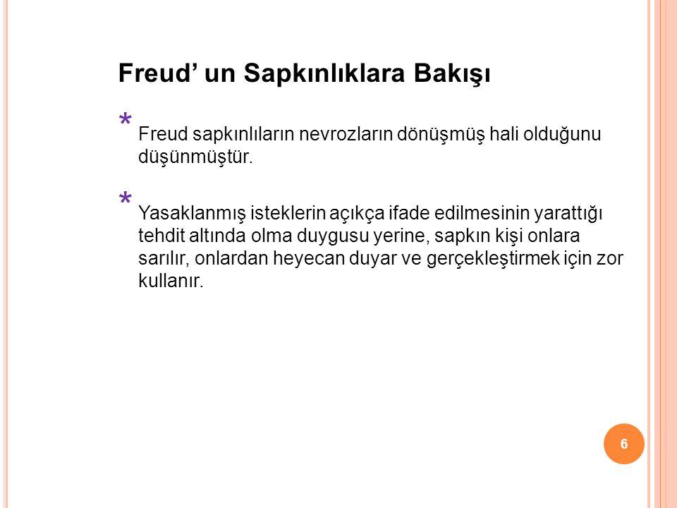 Freud' un Sapkınlıklara Bakışı