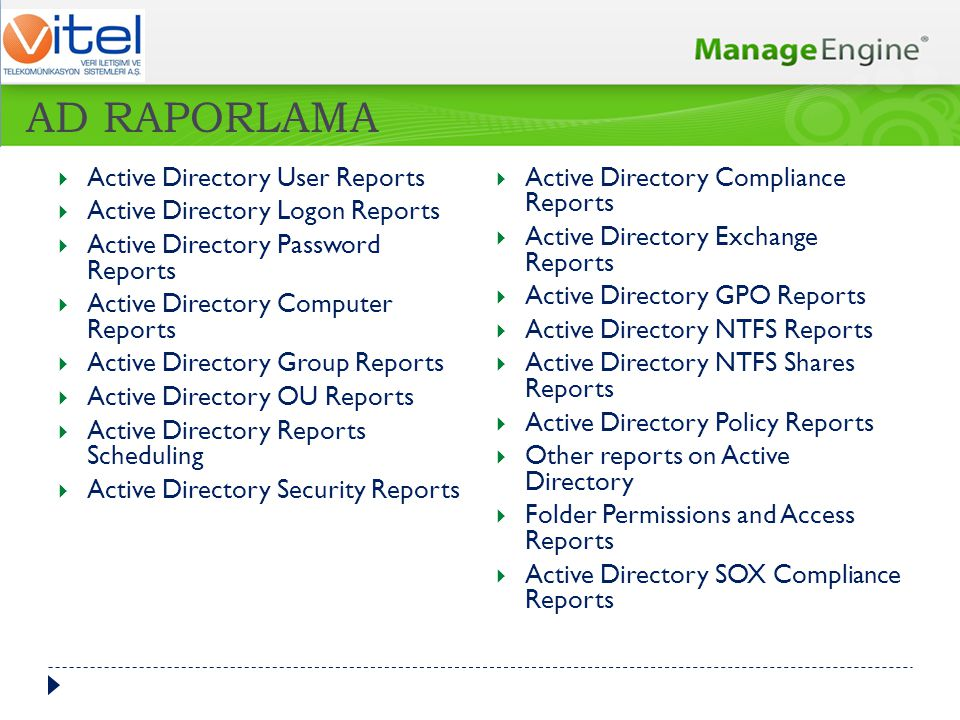 AD RAPORLAMA Active Directory User Reports