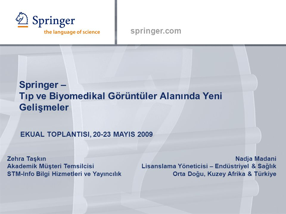 Springer – Tıp ve Biyomedikal Görüntüler Alanında Yeni Gelişmeler